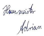 Hausmeister Adrian
